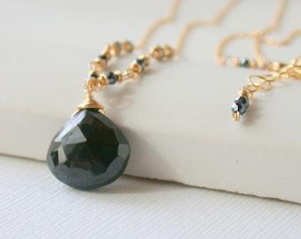 Black Onyx Pendant  Wire wrapped Pendant Gemstone Pendant Gemstone Necklace Black Onyx Necklace Gemstone Necklace Gemstone Jewelry