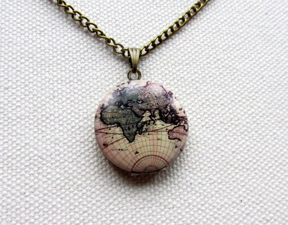 World map locket mini locket vintage map globe world necklace map world map locket mini locket vintage map globe world necklace map jewelry travel gift elh9g gumiabroncs Images