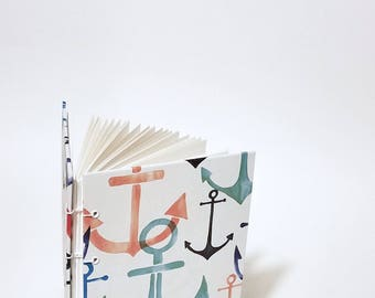 anchor journal - anchor notebook - anchor sketchbook - nautical journal - nautical notebook - nautical sketchbook - ocean journal notebook