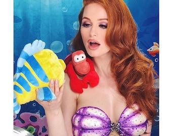 The ORIGINAL Little Mermaid Ariel Costume Seashell Shell Bra Cups CUSTOM - A True Enchantment Original
