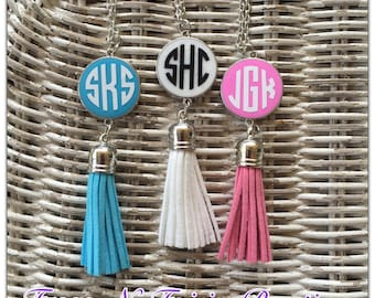 Monogrammed Initial Tassel Necklace