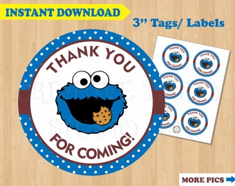 Cookie Monster Party Favor Labels/ Cookie Monster Birthday Party Favors/ Cookie Monster Favor Stickers  sc 1 st  Etsy & Cookie monster party | Etsy