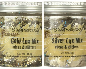 Stampendous Gold or Silver Luxe Mix - A mix of glitter and mica