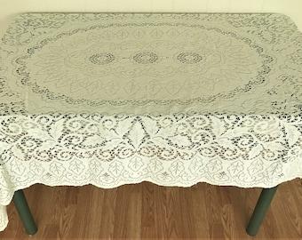 Quick View. Vintage Lace Tablecloth/ ...