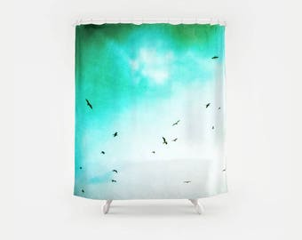 Seagulls Fly Photography Shower Curtain