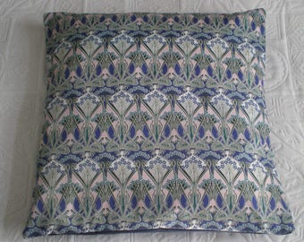 Liberty of London Fabric Cushion Cover - Ianthe Blue