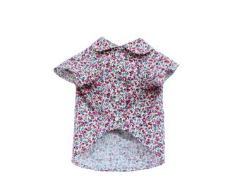 Dog Clothes The Rosie Shirt | Dog Shirt | Dog Apparel | Dog Shirts for Dogs | Pet Clothing | Floral Shirt