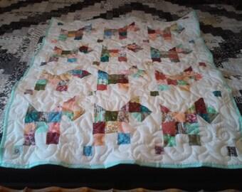 Handmade Scotty Dog Baby Quilt
