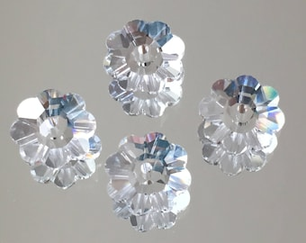 Swarovski Crystals - 6/8/10mm Marguerite Lochrose Flowers - Crystal Clear - Packages of 6 & 12 Beads (#849)
