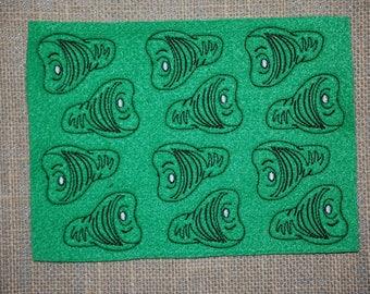 Green Ham Embroidered feltie sheet