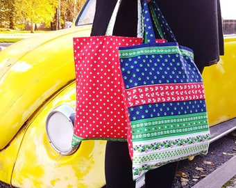 Hippie Tote Bag, Shopping Bag, Grocery Bag