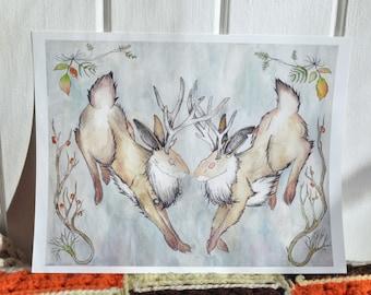 Jackalope Print