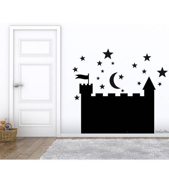 Castillo pizarra adhesiva Vinilo decorativo pizarra castillo