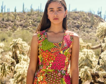 1960s Tropical Sheath Dress