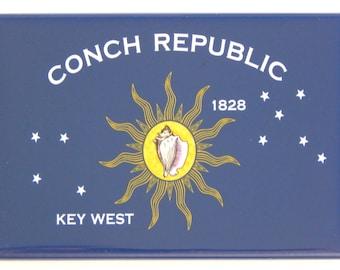 Flag of Key West Florida Fridge Magnet