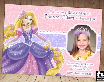 Princess Rapunzel Invitation