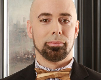 Bow tie with exotic wood, Ambrosia