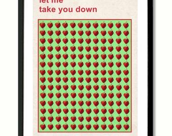 Beatles Strawberry Fields Forever inspired Art Print