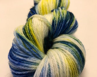 Primrose-Hand Dyed DK Weight Yarn-75/25 SW Merino/Nylon