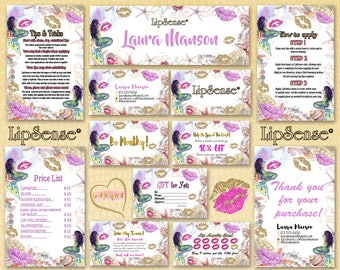 LipSense Marketing Kit,Thank You Cards,LipSense Digital Loyality Cards,LipSense Marketing Card,LipSense Business card