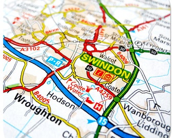 Swindon Map Coasters and Other Merchandise