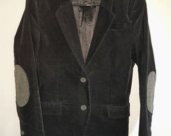 Vintage, ICONE, university, Corduroy blazer/jacket, with gray elbow patches, vintage blazer, vintage jacket, corduroy, professor blazer