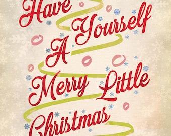 Christmas Art Print, Holiday Art, Christmas Decoration