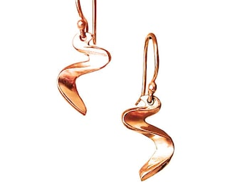 14K Rose Gold Drop Earrings | Ebb and Flow River Earrings