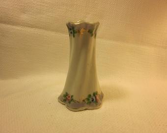 Vintage Nippon hat pin holder, handpainted Nippon, bud vase, vanity
