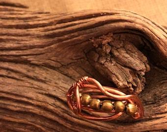 Brass Bead& Copper Ring