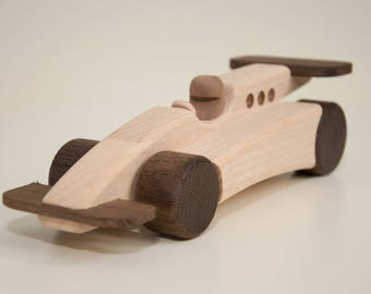 Mr. Crafty Handmade wooden racing car classic vintage F1 eco toys office gadget