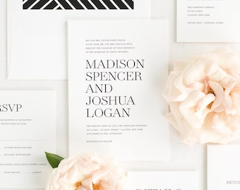 Madison Wedding Invitations - Sample