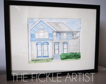 Custom House Watercolor - Example