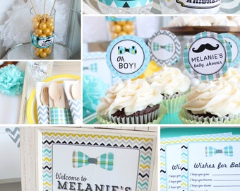 Mustache Baby Shower Decorations Boy Baby Shower Mustache Party Little Man Shower  Baby Shower Decor Little