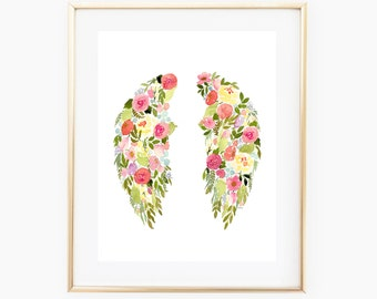 Flower Wings INSTANT DOWNLOAD