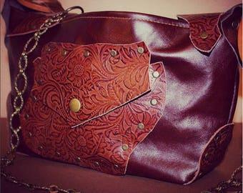 Medium women's bag, genuine leather bag, shoulder bag, hand bag