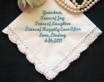 Großmutter personalisierte Hochzeit Taschentuch, benutzerdefinierte Taschentuch für Oma, 96S