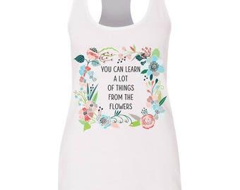 Alice In Wonderland flowers flowy tank| Golden Afternoon shirt| Wonderland | Disney shirt