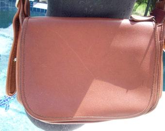 Tan Coach Leather Handbag/Saddlebag