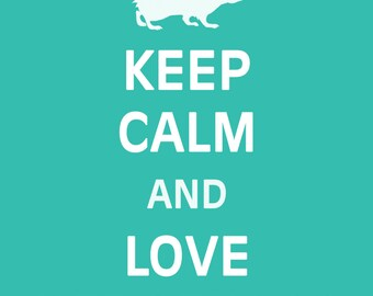 Keep Calm and Love Hedgehogs - Hedgehogs - Art Print - Keep Calm Art Prints - Posters
