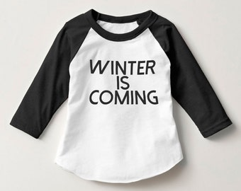 Game of thrones shirt for kids toddlers winter is coming shirt