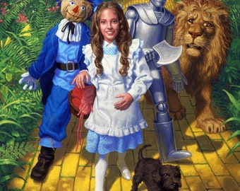 Wall Art - Classics Print - On the Yellow Brick Road -Wizard of Oz - Hand signed by the artist Greg Hildebrandt