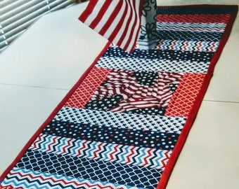 Patriotic table runner.  Reduced price!