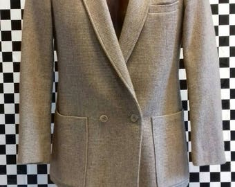 Men's beige jacket with rainbow flecks by Harry Fenton from the 1960's - medium