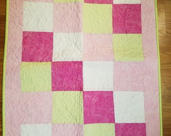 Raspberry Sherbet Baby Quilt