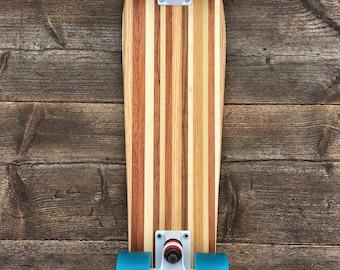 Solid wood skateboard