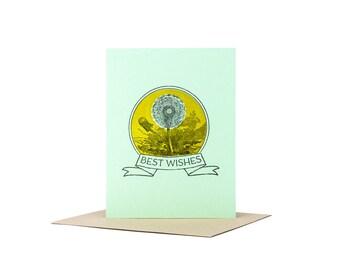 Best Wishes Greeting Card  / Letterpress Card / Congratulations Card / Bon Voyage Card / Blank Greeting Card / Wedding Card / Good Luck Card