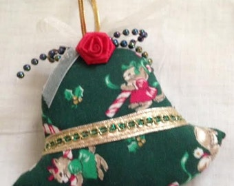 Holiday Candy Cane, Bell or Heart ~ All Hand-Crafted Ornaments