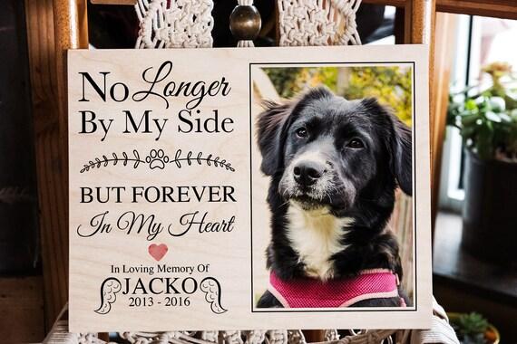Dog Memorial Frame Dog Loss Gift Print On Wood Pet