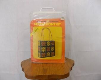 Vintage Pauline Denham Needlepoint Kit. Purse/Tote Sealed